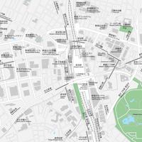 東京 新宿 ベクター地図データ(eps) 日本語/英語 並記版