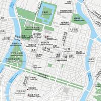 広島 広島中心部 ベクター地図データ(eps) 日本語/英語 並記版