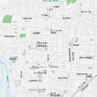 長野 長野駅周辺 ベクター地図データ(eps) 日本語