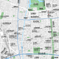 愛知 名古屋・栄・久屋大通・大須 ベクター地図データ(eps) 中国語(繁体字) / 英語 並記版