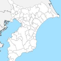 無料●千葉県 白地図 市区町村別 フリー素材