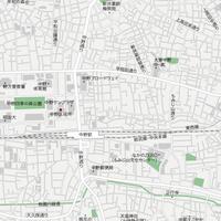 東京 中野・新井薬師 ベクター地図データ(eps) 日本語