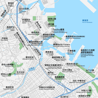 神奈川 横浜 ベクター地図データ(eps) 中国語(繁体字) / 英語 並記版