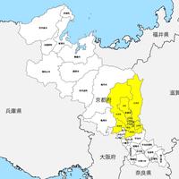 京都府 市区町村別 白地図 PDFデータ
