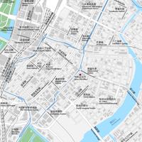 東京 東京駅・銀座・日本橋 ベクター地図データ(eps) 日本語/英語 並記版