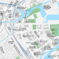 神奈川 横浜みなとみらい ベクター地図データ(eps) 日本語/英語 並記版
