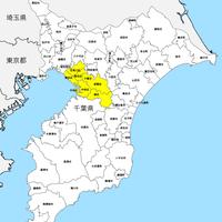 千葉県 市区町村別 白地図データ(eps)