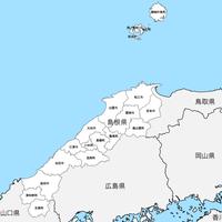 島根県 市区町村別 白地図データ(eps)