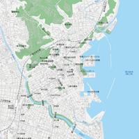 鹿児島 鹿児島中心部 ベクター地図データ(eps) 日本語