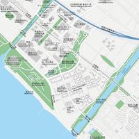 千葉 海浜幕張 ベクター地図データ(eps) 日本語/英語 並記版