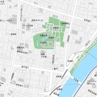 東京 浅草 ベクター地図データ(eps) 日本語