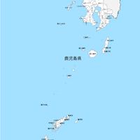 鹿児島県 市区町村別 白地図データ(eps)