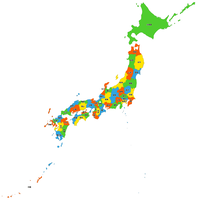 日本全図 都道府県別 形状 ベクター地図データ(eps) 日本語/英語版