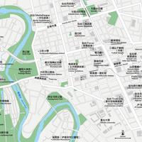 宮城 仙台 ベクター地図データ(eps) 繁体語/英語 並記版