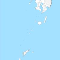 無料●鹿児島県 白地図 市区町村別 フリー素材