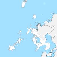 無料●長崎県 白地図 市区町村別 フリー素材