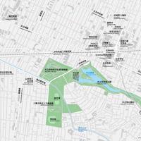 東京 三鷹・吉祥寺 ベクター地図データ(eps) 中国語(繁体字) / 英語 並記版