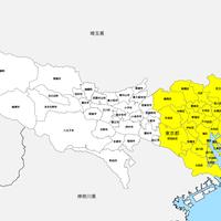 東京都 市区町村別 白地図データ(eps)