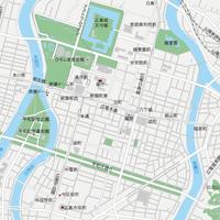 広島 広島中心部 ベクター地図データ(eps) 日本語