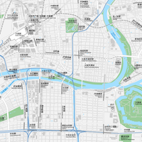 大阪 梅田・大阪城 ベクター地図データ(eps) 日本語/英語 並記版