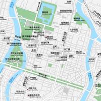 広島 広島中心部 ベクター地図データ(eps) 中文繁体語 / 英語 並記版