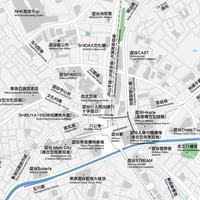 東京 渋谷 ベクター地図データ(eps) 繁体語/英語 並記版