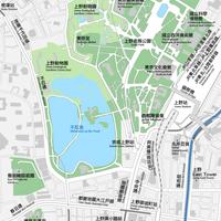 東京 上野 ベクター地図データ(eps)  中国語(繁体字) / 英語 並記版