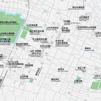 山形 山形駅周辺 ベクター地図データ(eps)  中国語(繁体字)/ 英語 並記版
