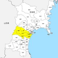宮城県 市区町村別 白地図 PDFデータ