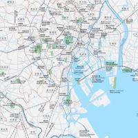 東京 広域 ベクター地図データ(eps) 日本語/英語 並記版