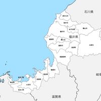 福井県 市区町村別 白地図 PDFデータ