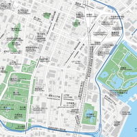 東京 新橋・浜松町 ベクター地図データ(eps) 日本語/英語 並記版