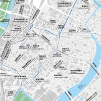 東京 東京駅・銀座・日本橋 ベクター地図データ(eps) 繁体語/英語 並記版