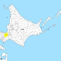 北海道 市区町村別 白地図データ(eps)