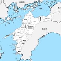 愛媛県 市区町村別 白地図 PDFデータ