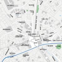 東京 澀谷 - 日本矢量地圖設計元素