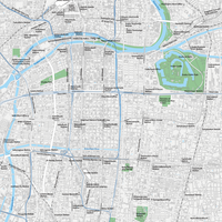Osaka Umeda Abeno - Editable Vector maps
