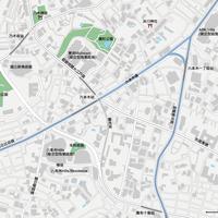 東京 六本木 - 日本矢量地圖設計元素