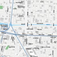 大阪難波  - 日本矢量地圖設計元素