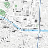 東京 秋葉原  - 日本矢量地圖設計元素