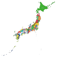 Japan - Editable Vector maps