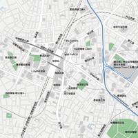 東京 池袋  - 日本矢量地圖設計元素