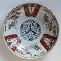 150 古伊万里 KOIMARI 染錦 赤玉瓔珞文 鉢
