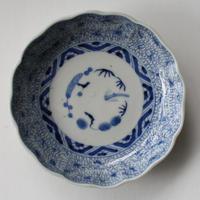 Ps-111 古伊万里 KOIMARI 微塵唐草文 膾皿 2枚セット
