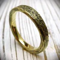 真鍮製石目調テクスチャーリング/幅の太いタイプ