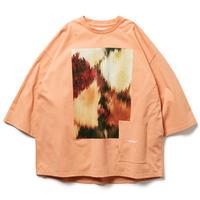 TIGHTBOOTH / TBPR / TONGUE FU 7 SLEEVE T-SHIRT -Salmon- / 7分袖Tシャツ