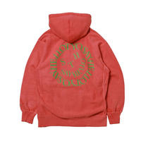 SAYHELLO / Pigment Dyed Face Logo Hooded -Stone Red- / プルオーバーパーカー