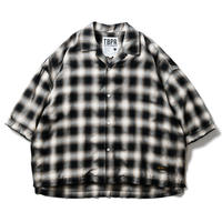 TIGHTBOOTH / TBPR / OMBRE ROLL UP SHIRT  -Black- / 半袖チェックシャツ