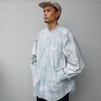 FAKIE STANCE / Fat Shirt -Tie Dye- / ノーカラー長袖シャツ
