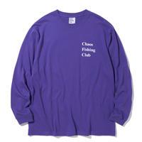 CHAOS FISHING CLUB / CONGRATS L/S TEE -Purple- / ロンティー